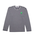 PLAY Green Heart Striped L/S T-Shirt