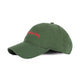 EMBROIDERED CURVED VISOR CAP / GREEN / OS