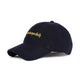 EMBROIDERED CURVED VISOR CAP / NAVY / OS