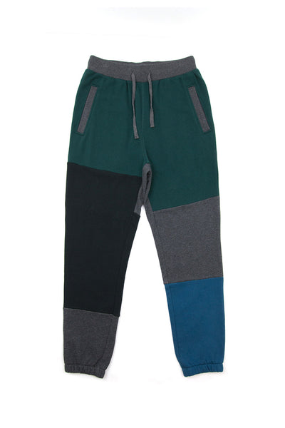 Fabric Blocked Sweatpants