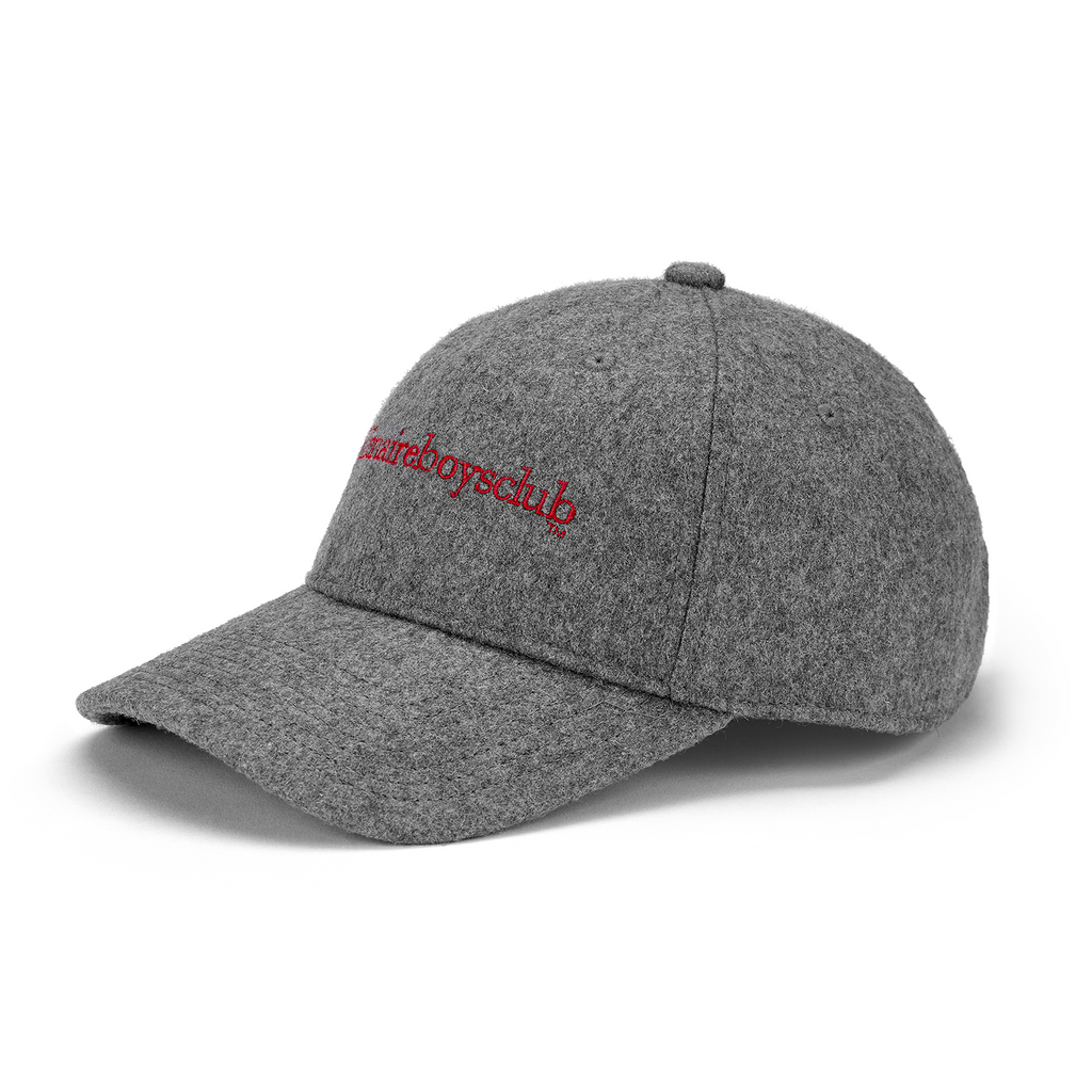EMBROIDERED WOOL CURVED VISOR CAP
