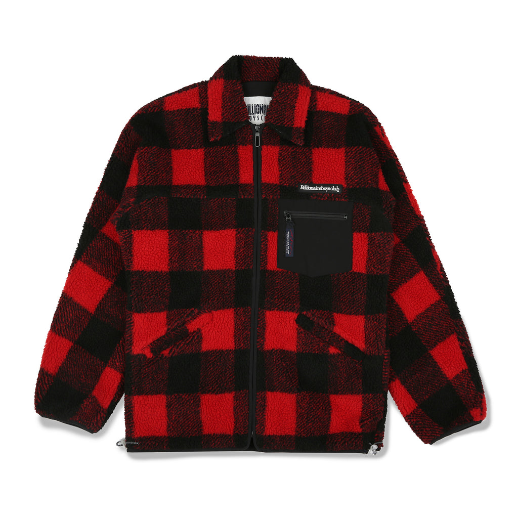FLEECE CHECK ZIP SHIRT