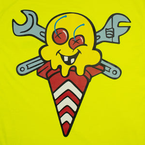 ICECREAM X YOPPY CONES & BONES TEE