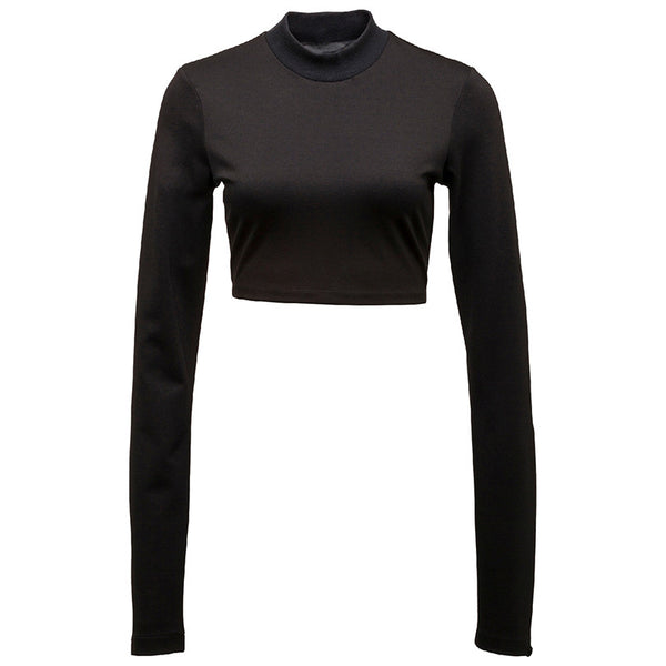 Fenty LS Cropped Mock Neck Top
