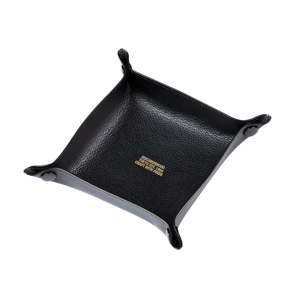 LEATHER SQUARE VALET TRAY