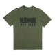 OVERDYED STRAIGHT LOGO T-SHIRT / OLIVE / S