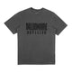 OVERDYED STRAIGHT LOGO T-SHIRT / BLACK / S