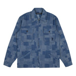 PATCHWORK DENIM ZIP OVERSHIRT