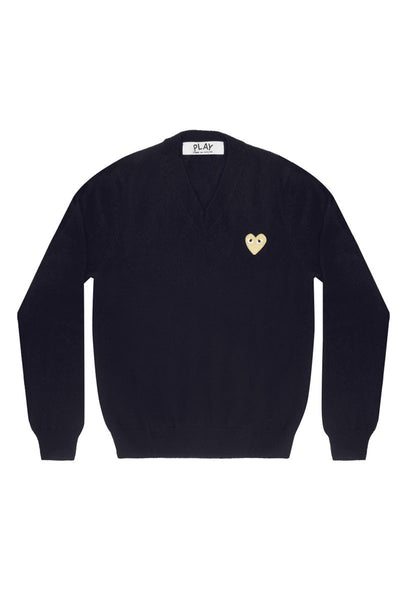 Gold Heart V-Neck