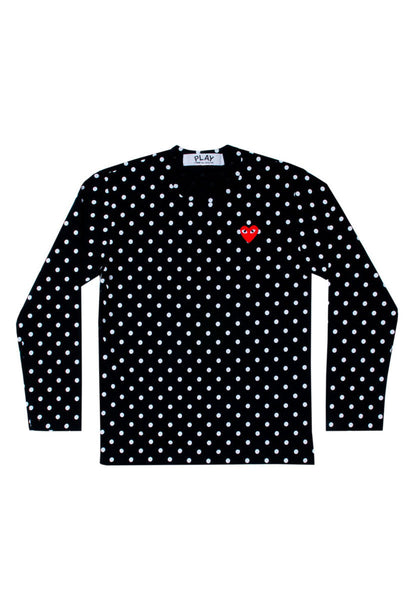 CDG PLAY Polka Dot L/S Womens