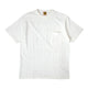 POCKET T-SHIRT #1 / WHITE / S