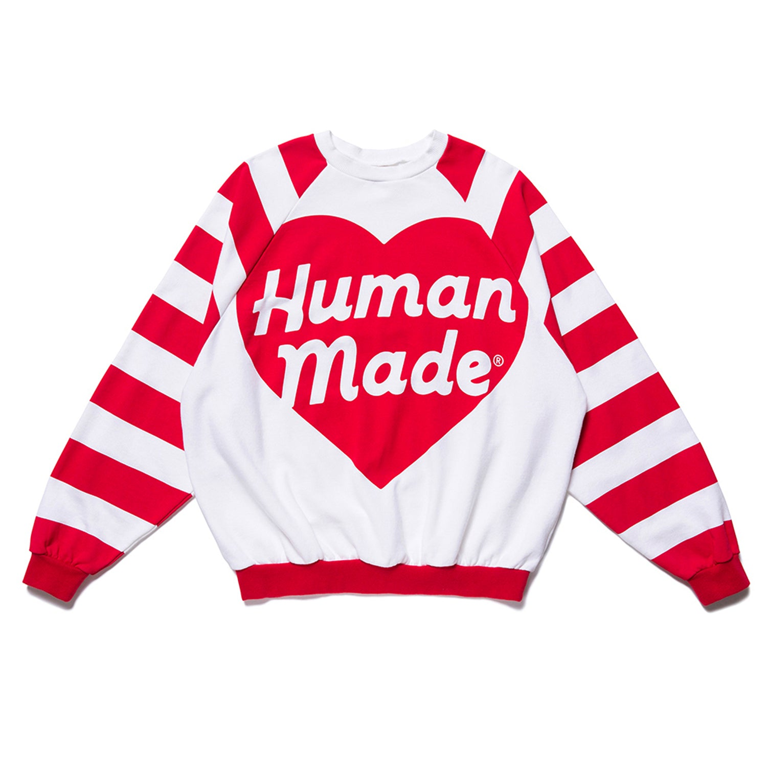 RAGLAN BIG HEART SWEATSHIRT