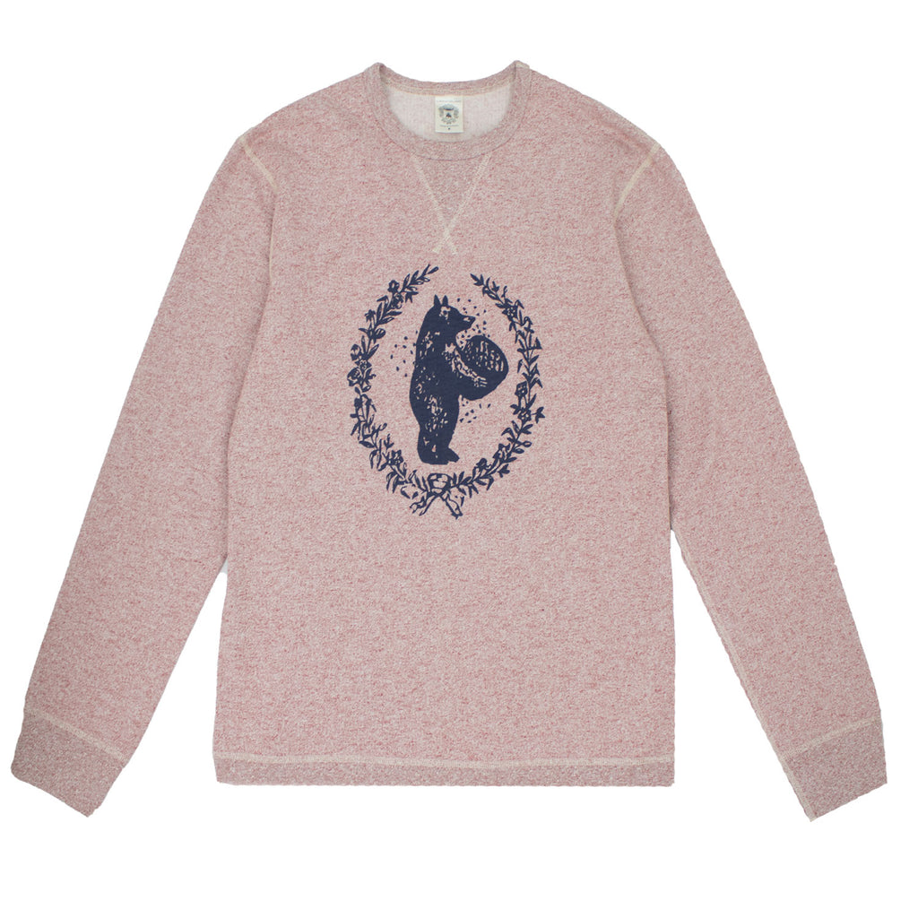 HONEY BEAR SPECKLED CREWNECK