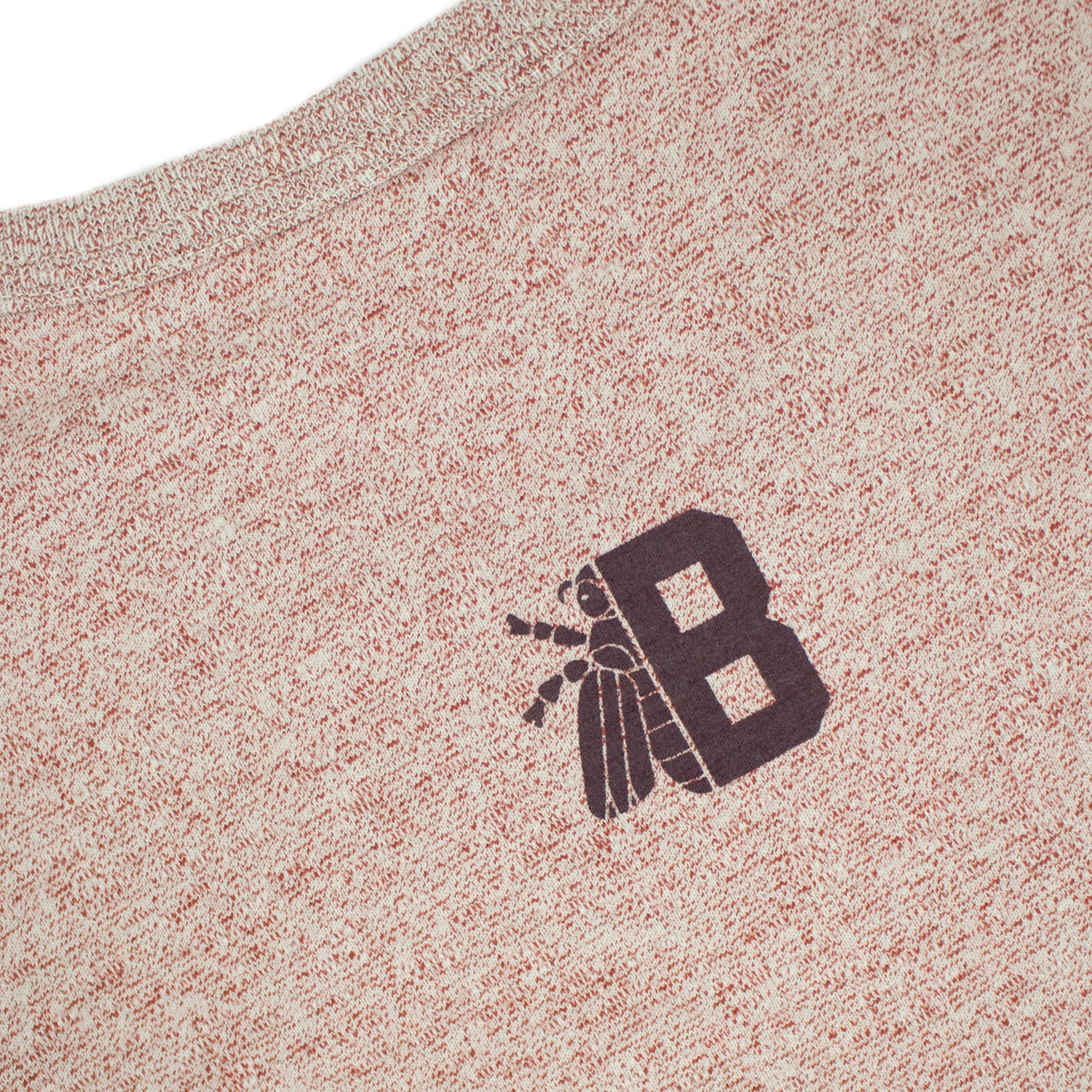BEE LOGO SPECKLED CREWNECK