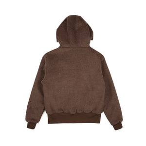 REVERSIBLE WOOL ZIP HOODY