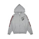 ROCKET RIOT ZIP THROUGH HOOD / HEATHER GREY / S