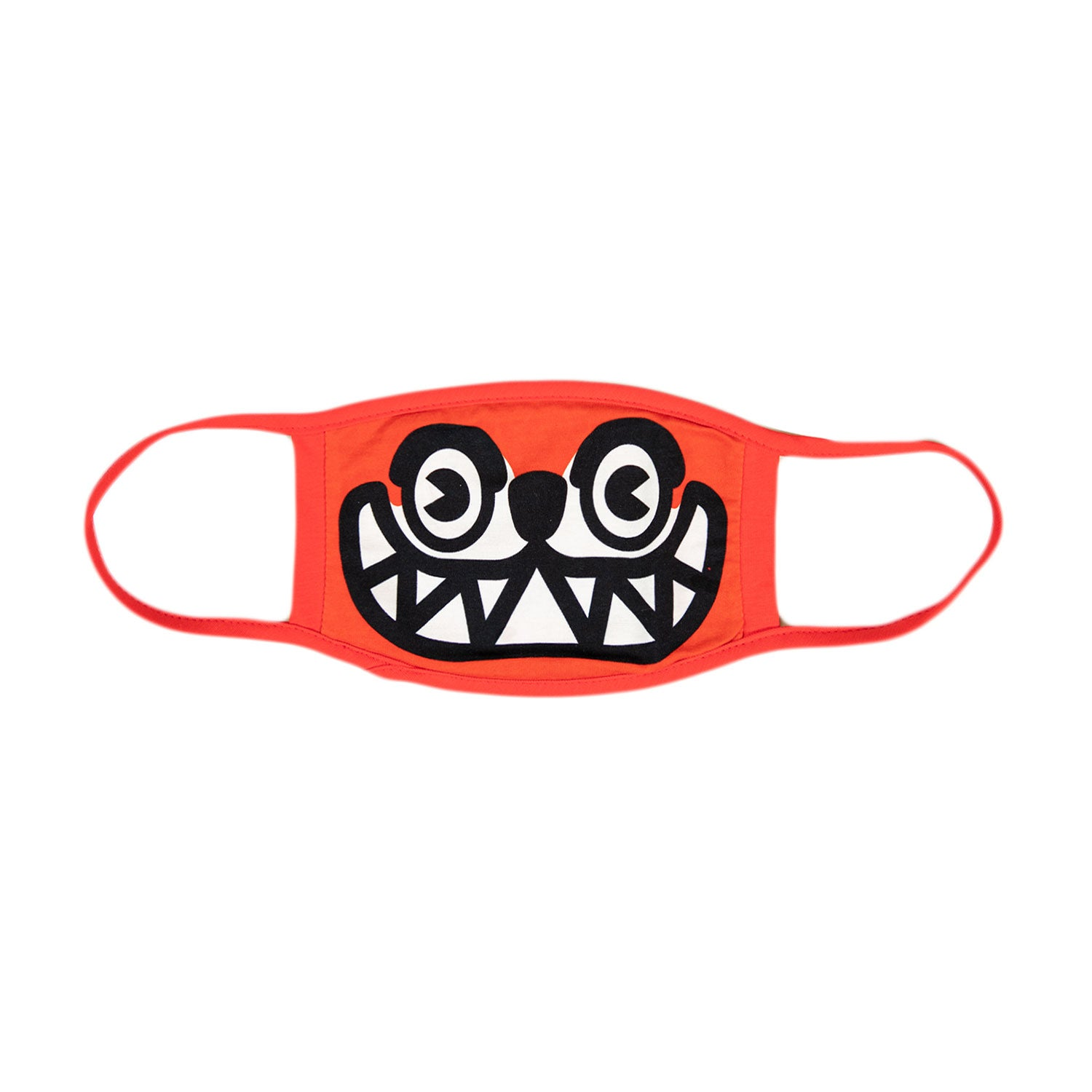 RUNNING DOG FACE MASK-RED