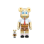BE@RBRICK SPONGEBOB GOLD CHROME 100% & 400% SET