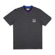 STRIPED POCKET T-SHIRT / BLACK / S