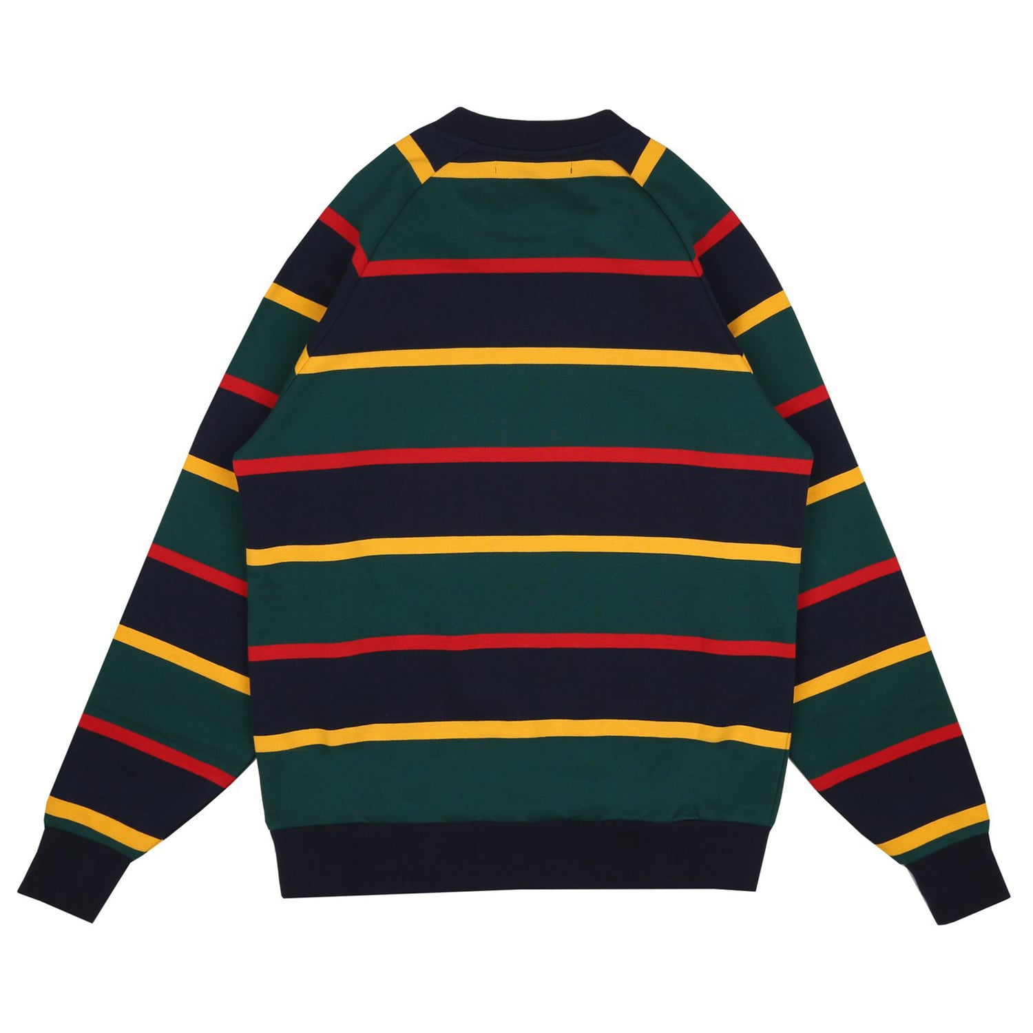 STRIPED RAGLAN CREWNECK