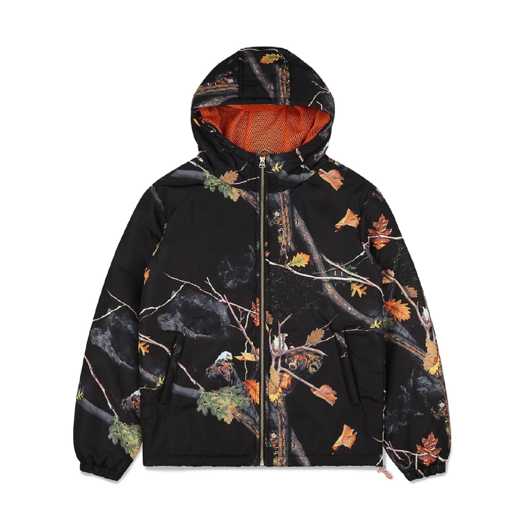 TREE CAMO PADDED ZIP JACKET