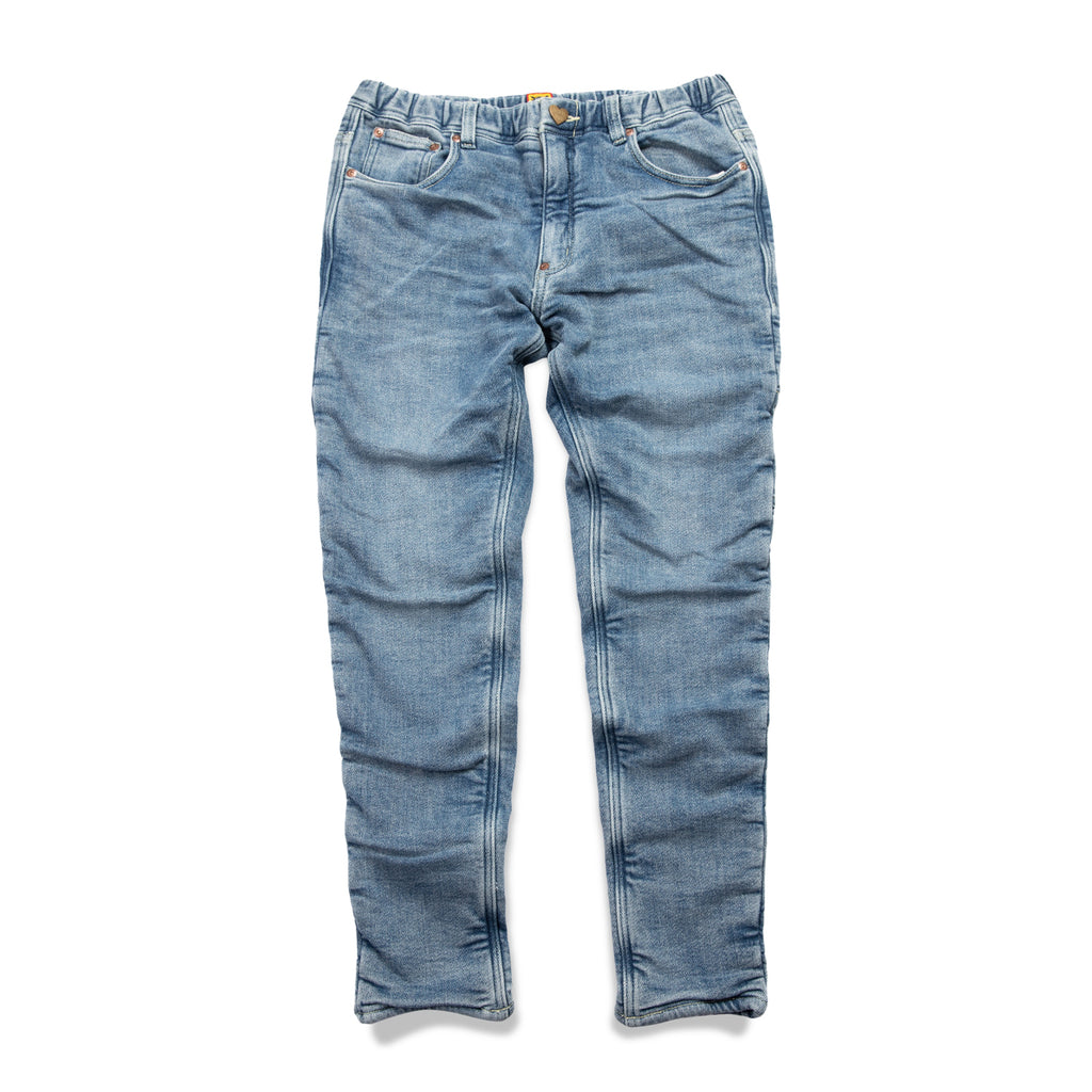 WAFFLE LINING RELAX DENIM PANTS