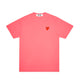 RED HEART PASTELLE T-SHIRT / PINK / S