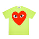 BIG RED HEART PASTELLE T-SHIRT / GREEN / S