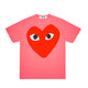 BIG RED HEART PASTELLE T-SHIRT / PINK / S