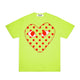 POLKA DOT HEART PASTELLE T-SHIRT / GREEN / S