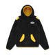 HOODED FLEECE POPOVER / BLACK / S
