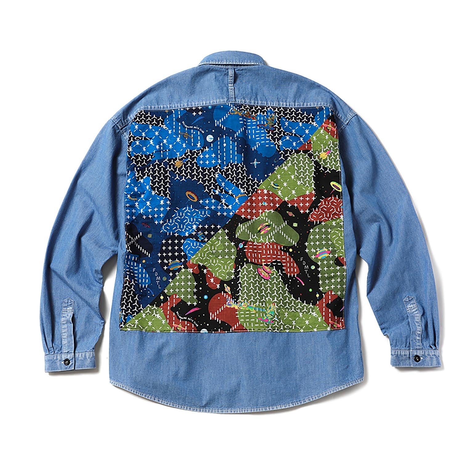 BILLIONAIRE BOYS CLUB x FDMTL WASHED DENIM BANDANA SHIRT