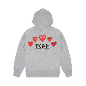 MULTI HEART ZIP UP HOODIE