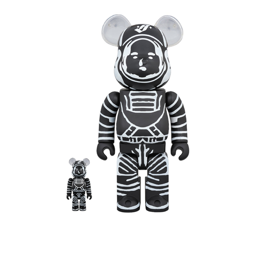 BILLIONAIRE BOYS CLUB x MEDICOM TOY BLACK ASTRONAUT BE@RBICK SET 400% & 100%