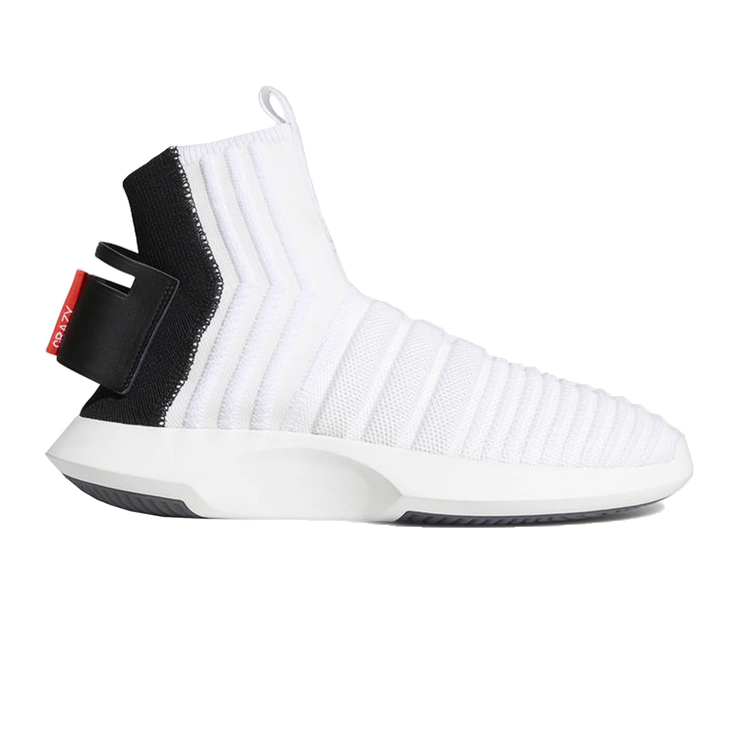 CRAZY 1 ADV SOCK PRIMEKNIT WHITE/BLACK