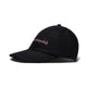 EMBROIDERED WOOL BLEND CAP / BLACK / O/S