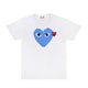 Color Heart T-Shirt / White/BL / S
