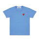 PLAY Little Red Heart T-Shirt / BLUE / S