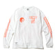 BOX L/S T-SHIRT / WHITE/ORANGE / S