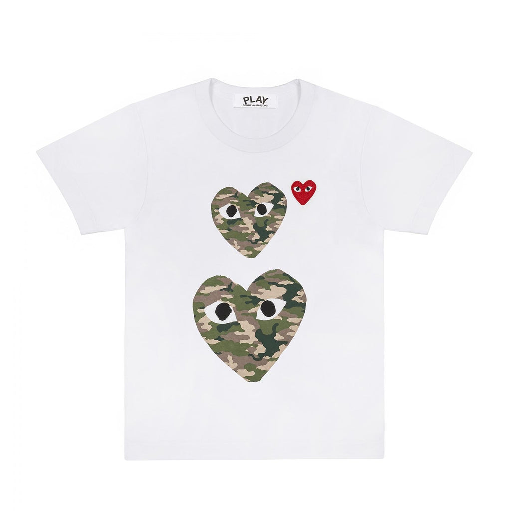 CAMO DOUBLE HEART T-SHIRT