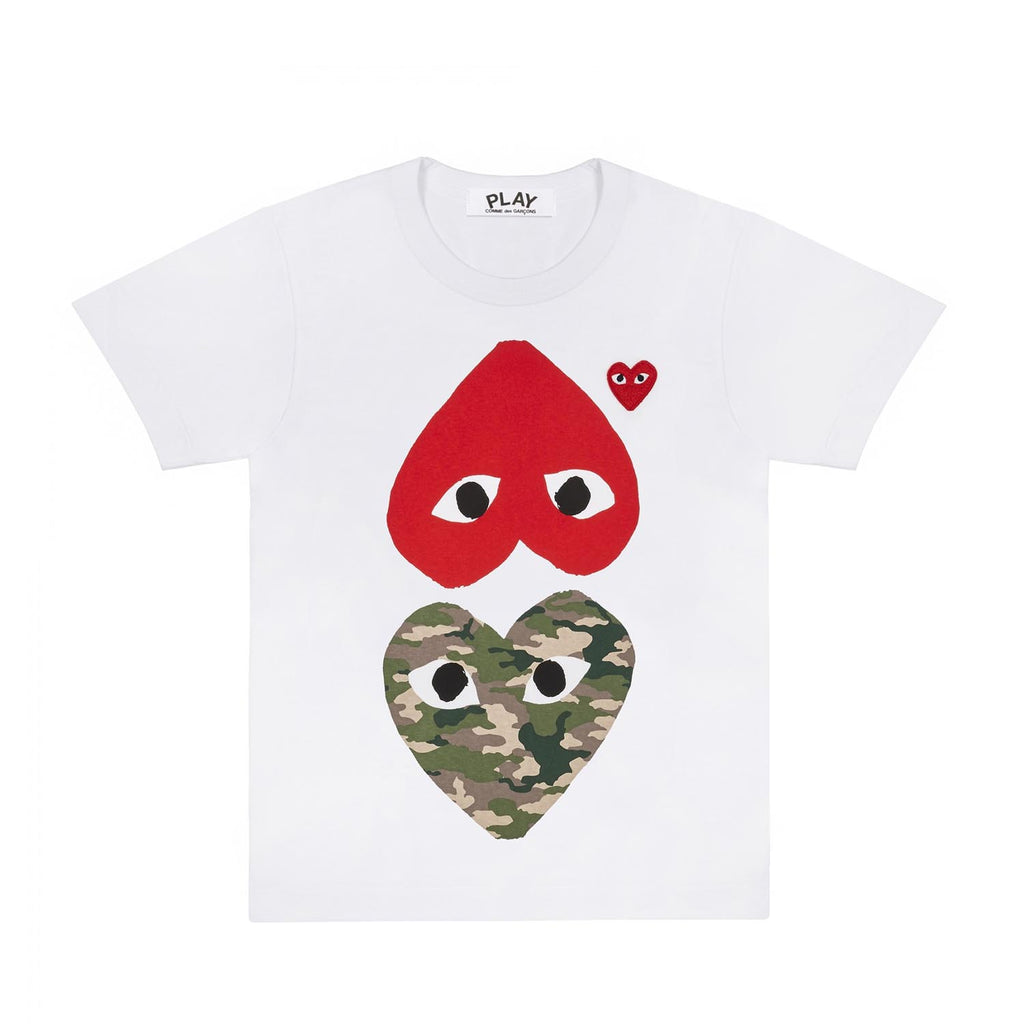 CAMO HEART RED HEART T-SHIRT
