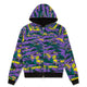 REVERSIBLE CAMO/WAFFLE ZIP THROUGH HOOD / BLACK / S