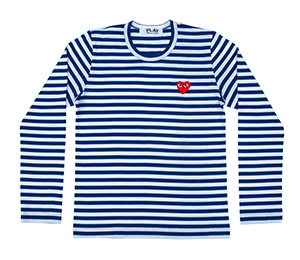 CDG Play Striped L/S Womens