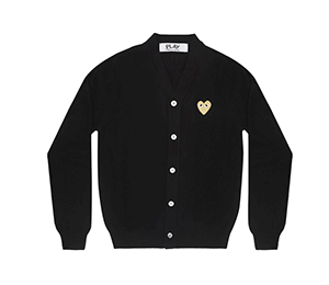 CDG Play Womens Gold Heart Cardigan