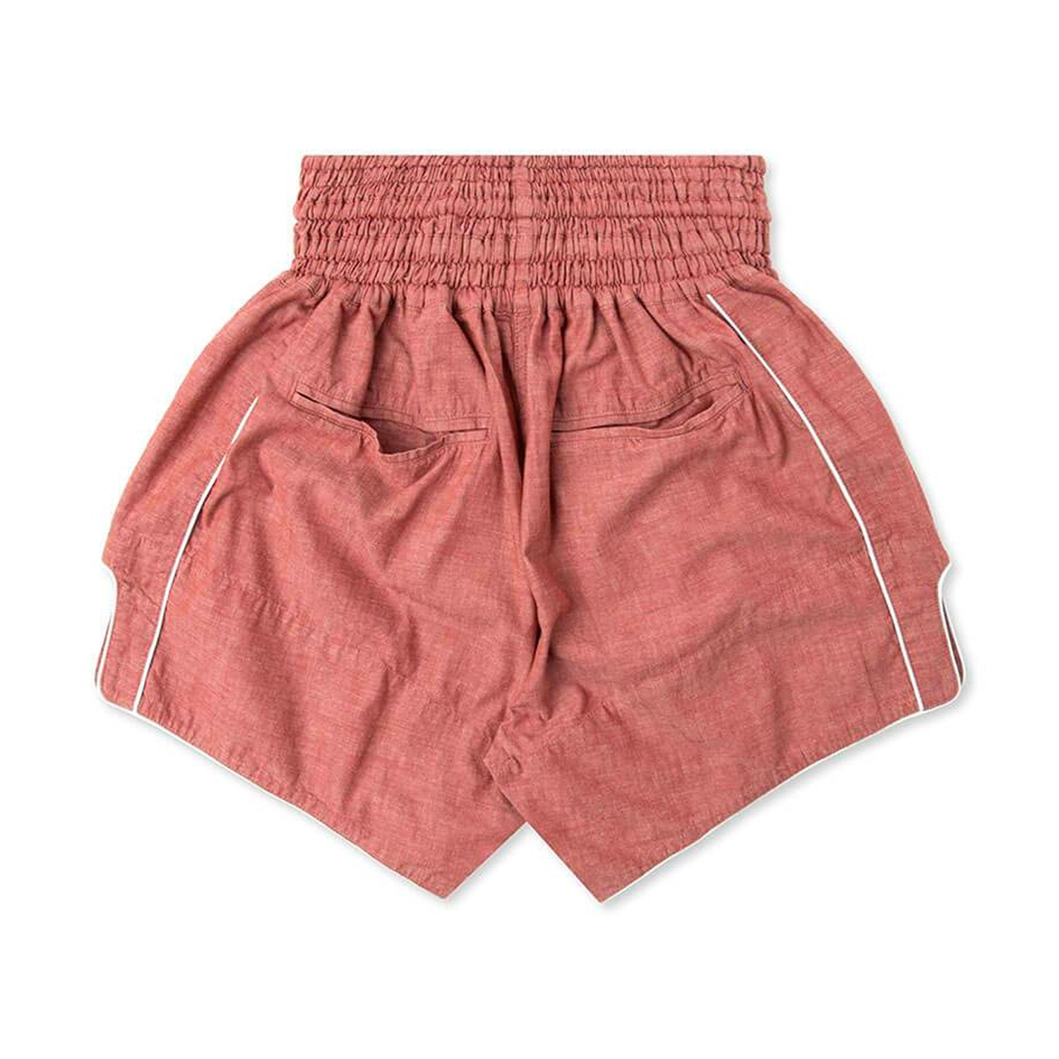 RED CHAMBRAY MUAY THAI SHORTS