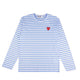 STRIPED PASTELLE T-SHIRT / BLUE/WHITE / S