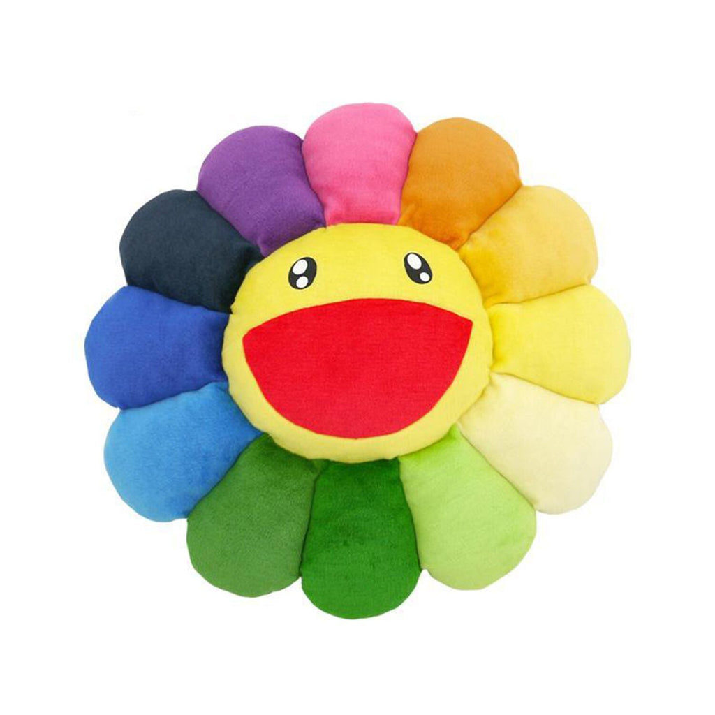 FLOWER CUSHION 60CM RAINBOW