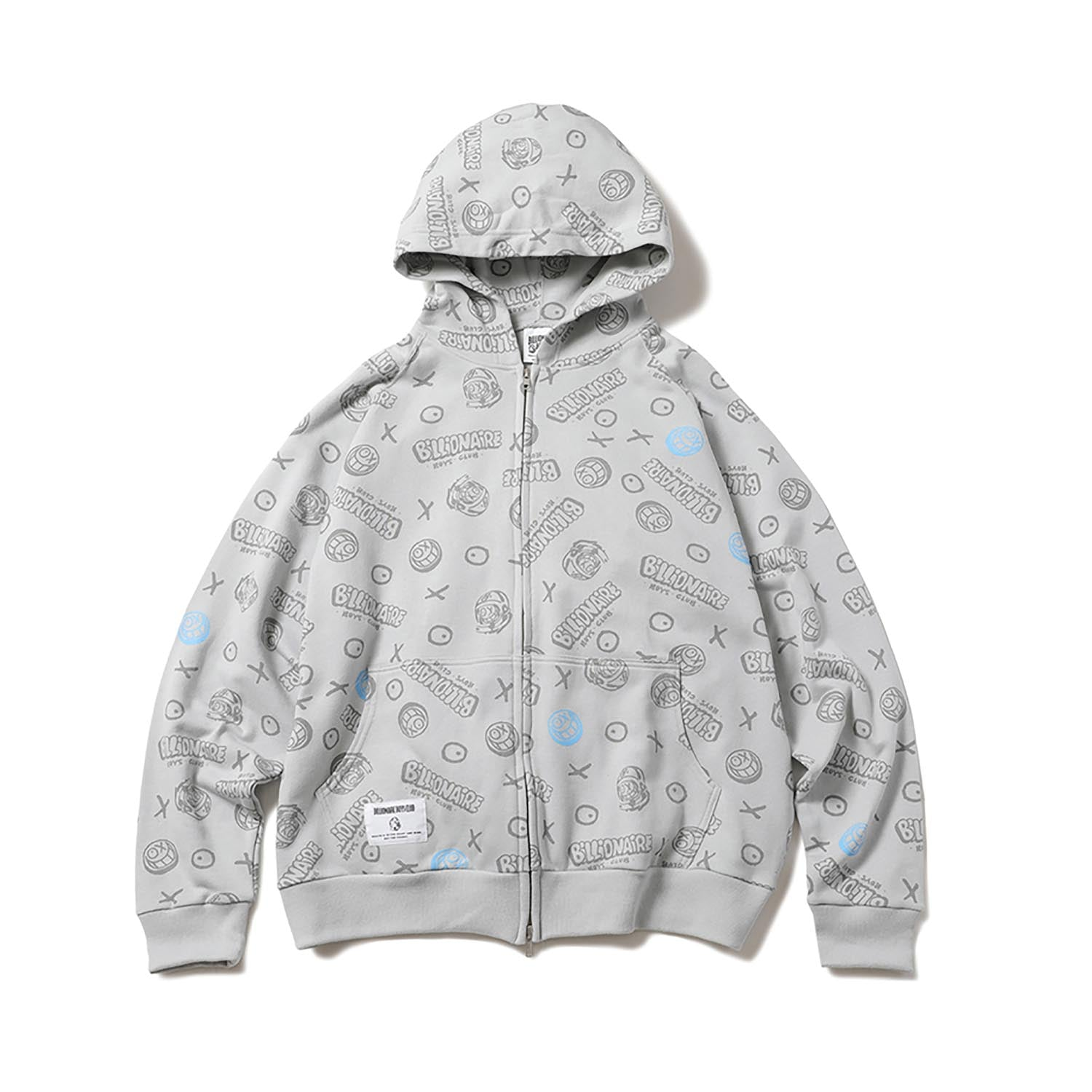 BILLIONAIRE BOYS CLUB x ANDRE SARAIVA ALLOVER PRINT ZIP UP HOODIE