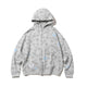 BILLIONAIRE BOYS CLUB x ANDRE SARAIVA ALLOVER PRINT ZIP UP HOODIE / GREY / S