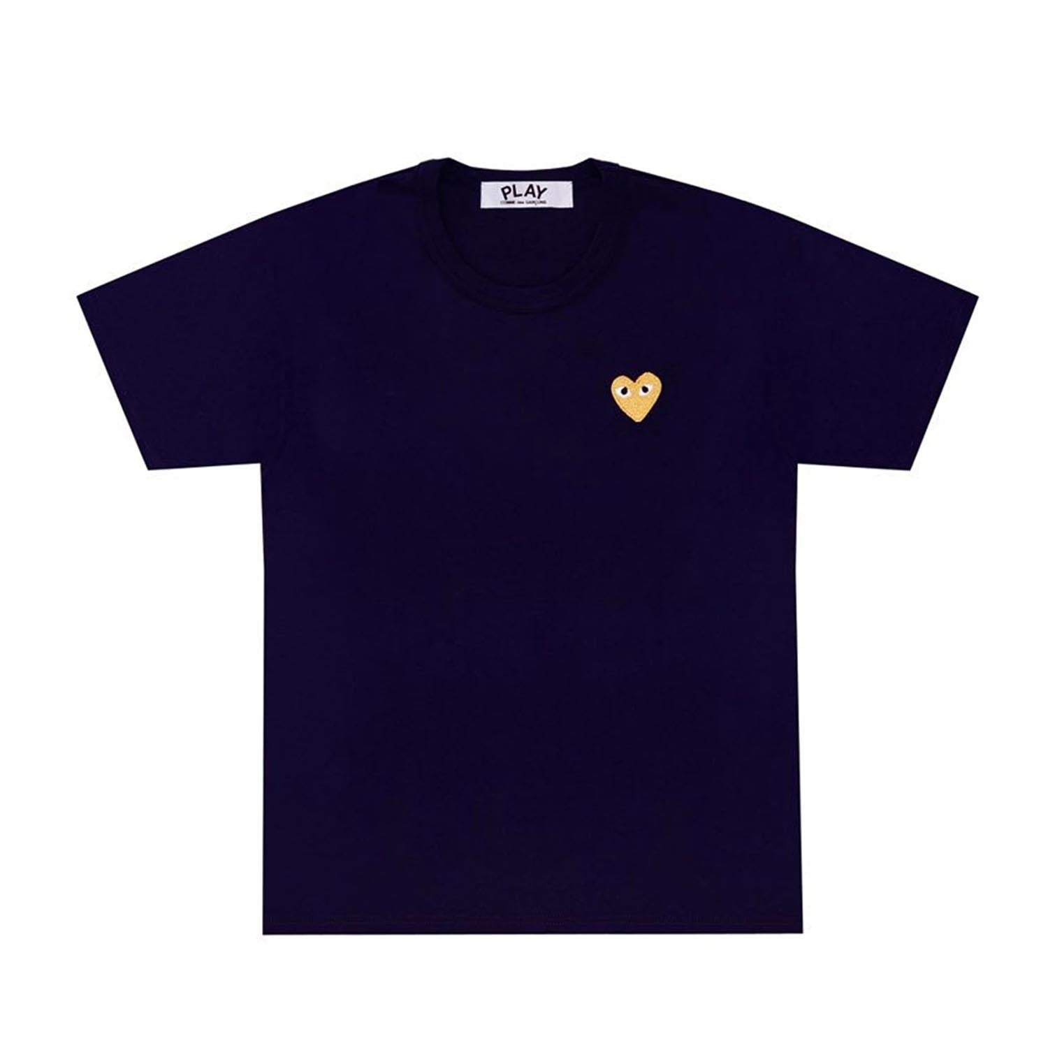 GOLD SMALL HEART TEE